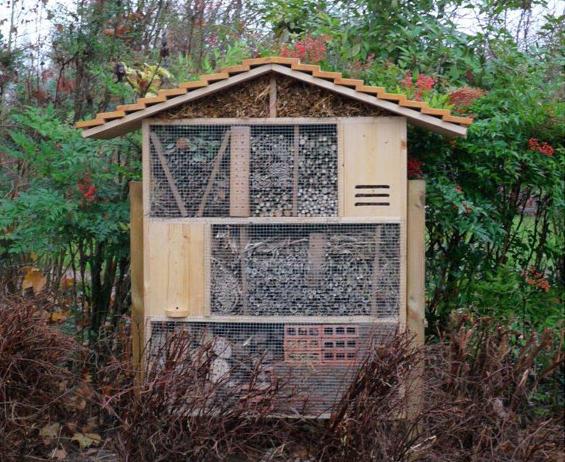 Construire des nichoirs et abris à insectes